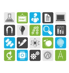 Silhouette Science Research and Education Icons vector image vector image