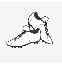A pair of soccer shoes Football Boots icon vector