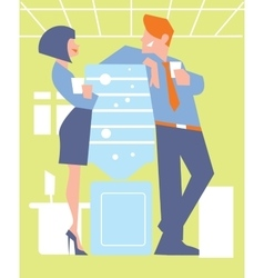 Abstract business concept of office life vector image