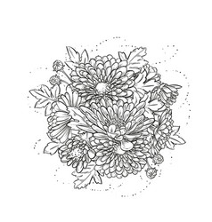 Abstract elegant template with chrysanthemum vector
