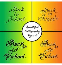 back to school 2 vector image