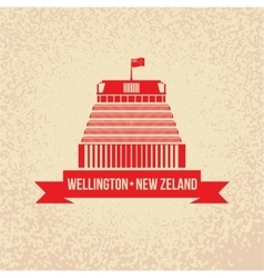 Beehive - the symbol of Wellington New Zeland vector image