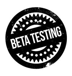 Beta testing stamp vector image