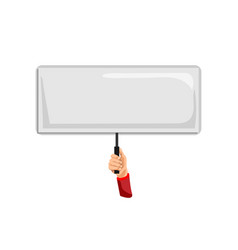 Blank sign isolated activist person hand vector