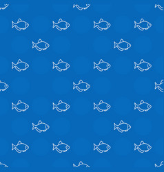 Blue aquarium fish pattern vector