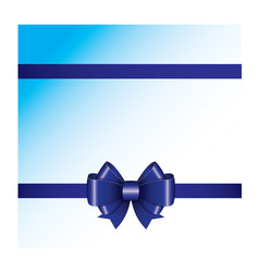 blue ribbon bow 05 vector image
