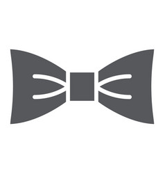 bow tie glyph icon clothes and accessory vector image