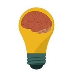 Brain idea bulb concept vector