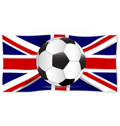 British flag and football vector
