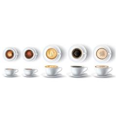 coffee cup realistic hot ristretto espresso vector image