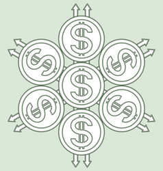 Coins sacred pattern vector