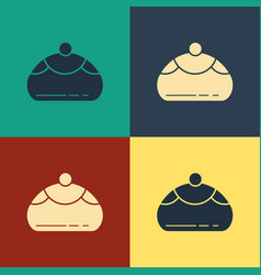 Color jewish sweet bakery icon isolated on color vector