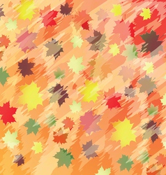colorful background with maple leaves vector image
