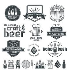 Craft beer brewery emblem vector