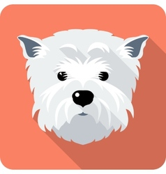 dog West Highland White Terrier icon flat design vector image