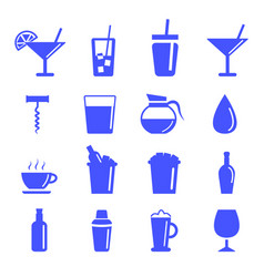 drinking glass icon set vector image