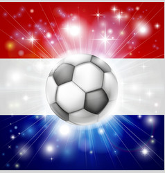 Dutch soccer flag vector