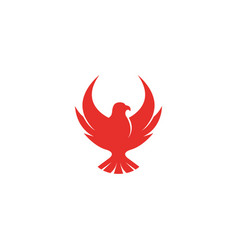 eagle red logo vector image