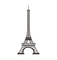 eiffel tower isolated icon vector image