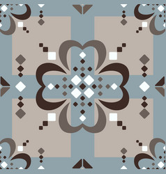 fair isle large scale brown beige blue white vector image