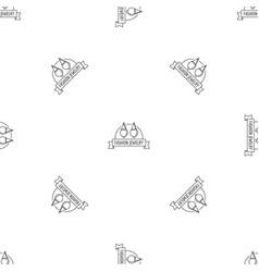 fashion jewelry pattern seamless vector image