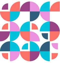 Geometric bauhaus pattern simple shapes vector