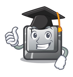 Graduation t button installed on character vector
