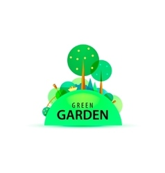 Green garden logo vector