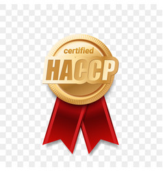 haccp certified award ribbon food safety and vector image
