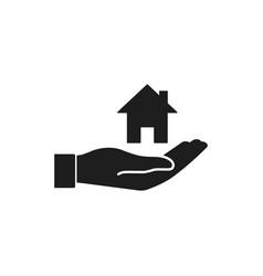 home care icon flat design vector image