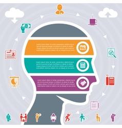 Human head variety of tasks vector