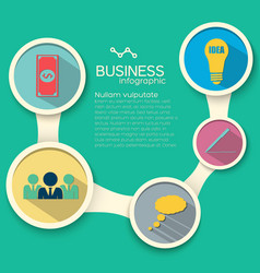 infographic business elements vector image