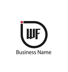 initial letter wf logo template design vector image