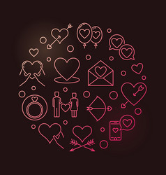 Intimate relationship round colorful vector