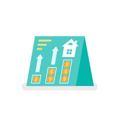 Investment planning and real estate rent banner vector