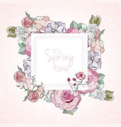 It is spring card vector