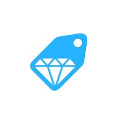 Label diamond logo icon design vector