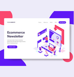 landing page template ecommerce newsletter vector image