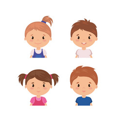little kids friendly characters vector image