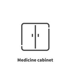 Medicine cabinet icon symbol vector