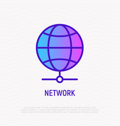 network thin line icon vector image