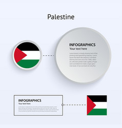 Palestine Country Set of Banners vector