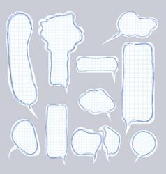 paper speech bubble tags vector image