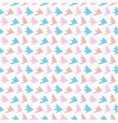 pastel abstract fin scale shapes blue pink vector image