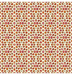 pattern with decorative round shapes in coral red vector image