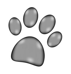 Paw sign icon vector