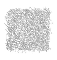 Pen tangled line square pattern hatched drawing vector