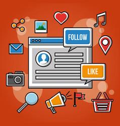 People social media networks vector