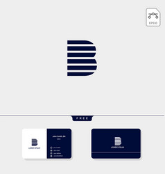 premium abstract initial b logo template business vector image