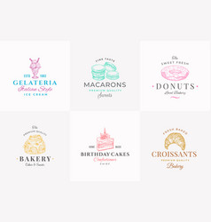 premium quality confectionary abstract signs vector image